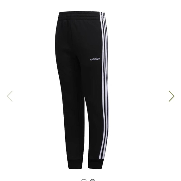 Adidas 3 stripe cotton fleece jogger